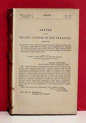 Senate Report - Disbursements for the Benefit of the Indians - 1857