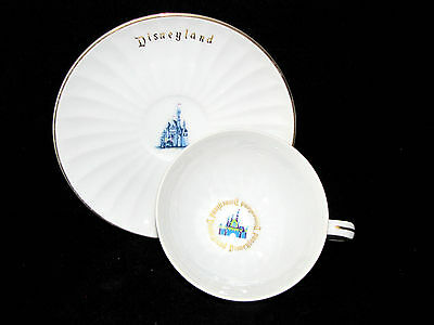 DISNEYLAND Sleeping Beauty's Castle Vintage Cup and Saucer Disney Productions