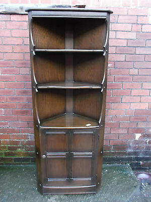 ERCOL OLD COLONIAL Solid Elm TRADITIONAL Finish 3 Shelf Cupboard CORNER UNIT-P23