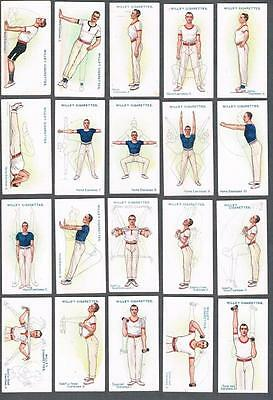 1914 Wills's Cigarettes Physical Culture Tobacco Cards Complete Set of 50