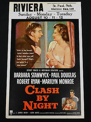 Clash By Night 1952 * Barbara Stanwyck * Marilyn Monroe * Fritz Lang * Film Noir