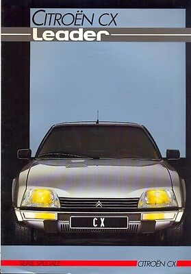 CITROEN CX Leader range 1985 French Market full colour Sales Brochure