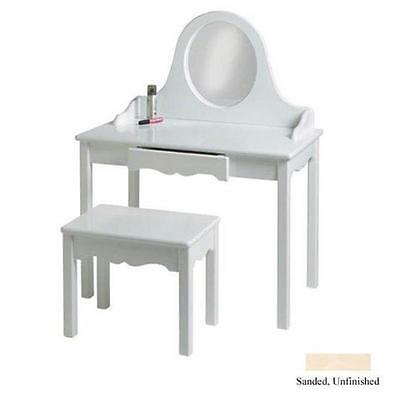 Little Colorado 04729UNF Vanity and Bench Set Unfinished
