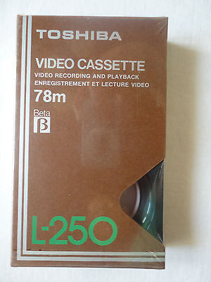 NEU & OVP * Beatamax TOSHIBA Video Cassette 78m Beta L-250
