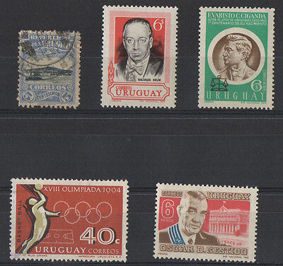Uruguay selection of 5 stamps mint & used.