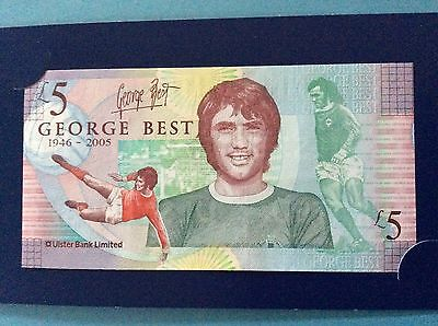 George Best five 5 pound note incl. wallet - 2006 Ulster Bank Limited