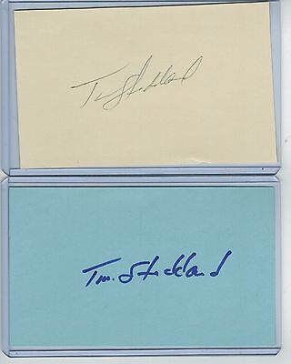 (2) Tim Stoddard Index Card Signed 1983 Ws Champs Orioles Psa/dna Certified