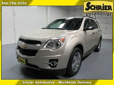 2014 Chevrolet Equinox LTZ Sport Utility 4-Door 14 Chevy Equinox LTZ Champagne Silver Sunroof Heated Leather Lane Departure