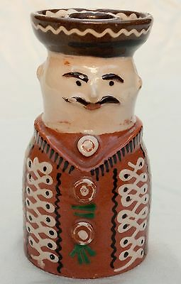 Unique Porcelain 18th Century Reproduction Character Candlestick Holder Hungary