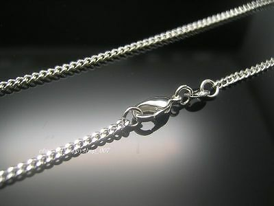 New!  5pcs 925 Sterling Silver Curb Type Chain Necklace Fashion Jewelry 18 inch