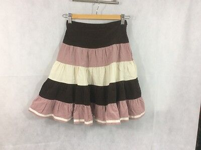 Gorgeous Monsoon Winter Striped Lined girls skirt age 8-10 years