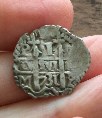 Spanish Colonial. Bolivia. Cob Coinage. Silver Real. Dated 1731.