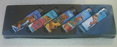 Joe Camel Club Cigarette Lighters Collector's Set Of 5 New In Box Sealed 1992