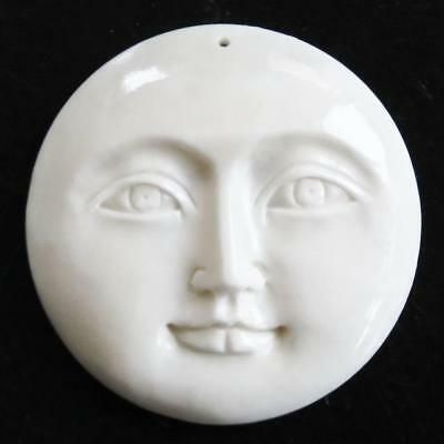 "1 5/16"" 33MM OPEN EYES MOON MOONFACE BISON BONE CAB CABOCHON bead"