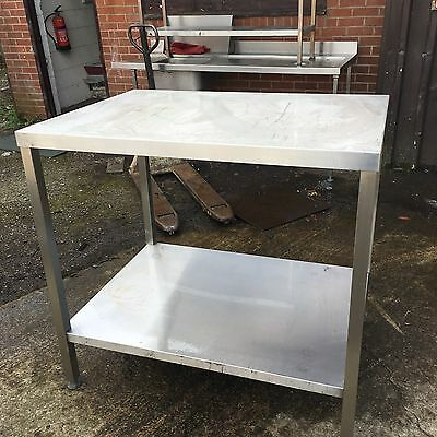 Stainless Steel Prep Bench Table Work Surface Shelf Catering Oven Stand