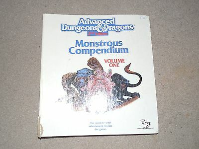 Vintage 1989 Advanced Dungeons And Dragons Monstrous Compendium Binder Book Used