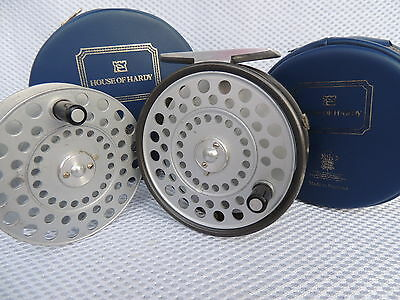 Vintage Made In England Hardy Princess Fly Fishing Reel + Spare Spool & Cases.