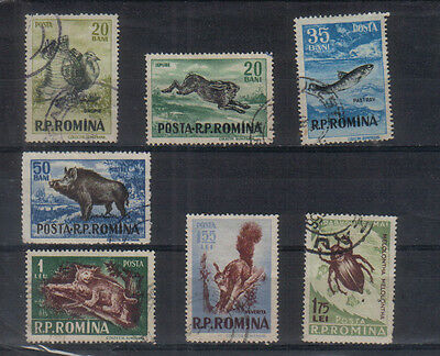 Romania 1956 Wildlife Seven values to l1.75 used