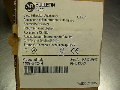 Allen-Bradley 140G-G-TC4H Terminal Cover For 4-Pole G Frame Molded Case  nib