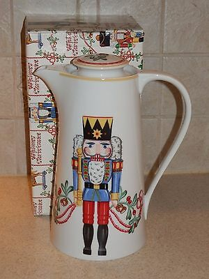Block China Spal Whimsy Christmas Coffee Pot W/box Excellent!