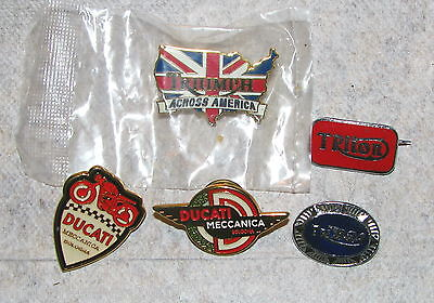 Vintage Motorcycle Pin Lot - Triumph - BSA - Ducati of (5)