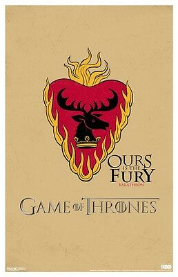 "Game of Thrones - Baratheon Heart Symbol/Sigil 11"" x 17"" Poster"