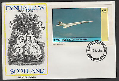 GB Locals - Eynhallow (119) 1982 CONCORDE £2 on cover with first day cancel