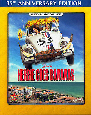 Disney's Herbie Goes Bananas 35Th Anniversary Blu-Ray New Sealed Free Ship