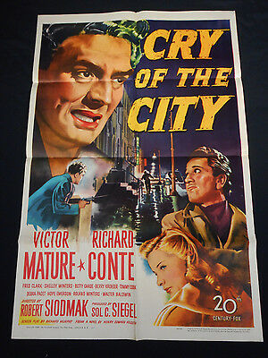 Cry Of The City 1948 * Victor Mature * Richard Conte * S. Winters * Film Noir!!