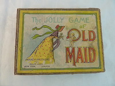 Antique Old Maid Card Game Parker Bros. Great Lithographs Black Americana ++