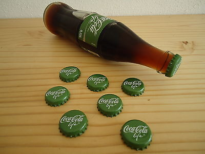 250x Bottle Caps Coca-Cola LIFE with Stevia Germany 2015 New Careful opend Top