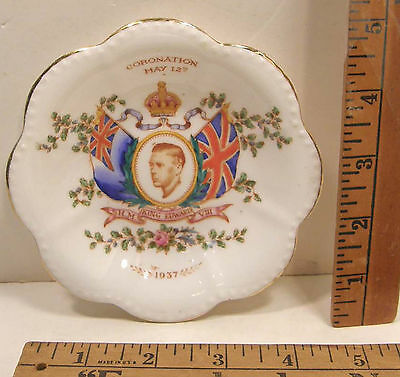 1937 Plant Tuscan China Coronation King Edward Viii Trinket Dish Duke Of Windsor