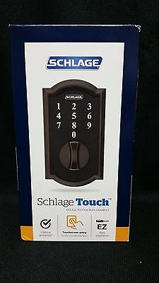 Schlage BE375 V CAM 716 Keyless Touch Screen Deadbolt Lock NEW SEALED SHIPS FAST