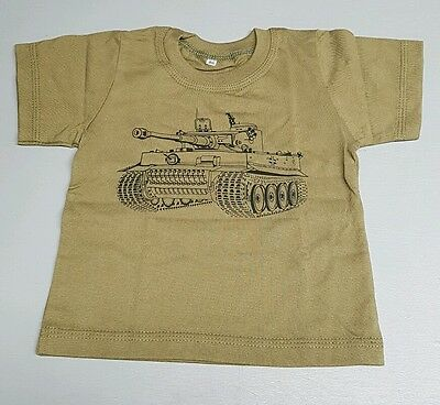 Age 8 Years Kids Army King Tiger Tank 100% Cotton T Shirt, Dress Up, Soldier