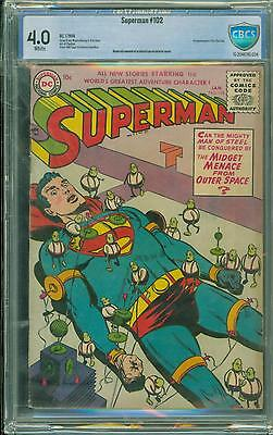 Superman #102 [1956] Certified[4.0] Classic  Cover