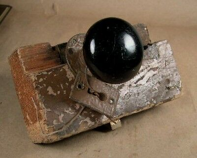 Antique Black Porcelain Glass Door Knob Set – Hardware