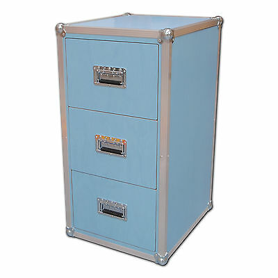 Serious Blue 3 Drawer Filing Cabinet