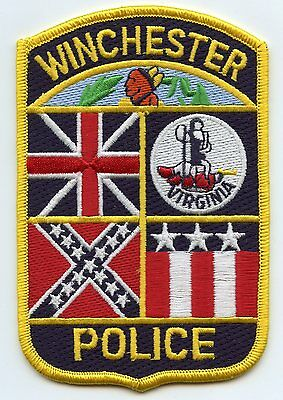 old vintage WINCHESTER VIRGINIA VA colorful POLICE PATCH
