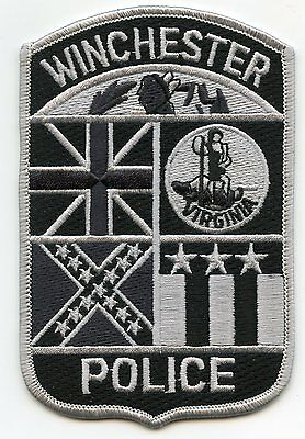 old vintage WINCHESTER VIRGINIA VA subdued POLICE PATCH