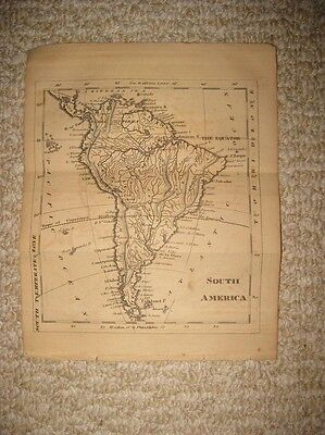 Antique 1815 South America Copperplate Map Brazil Terra Firma Argentina Superb