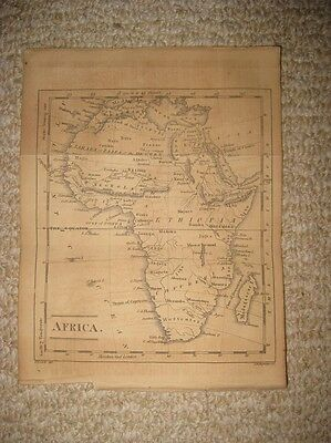 Superb Antique 1815 Africa Copperplate Map Hottentot Tribes Moon Kong Mountains