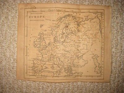 Superb Antique 1815 Europe Copperplate Map Russia Germany Poland Italy France Nr