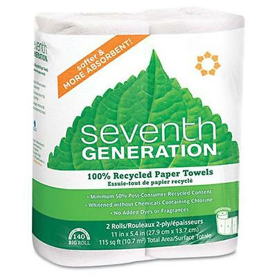 Sev 13730 100 Percent Recycled Paper Towel Rolls, 2-Ply