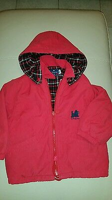 Girls padded red winter coat age 3-4