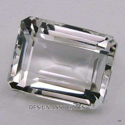 WHITE TOPAZ  SPARKLING 18x13 EMERALD CUT AAA ALL NATURAL