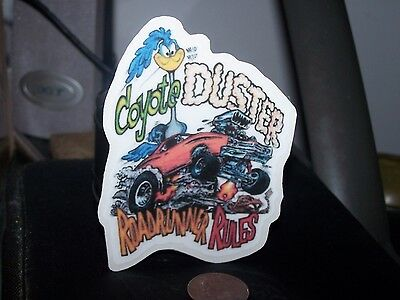 Coyote Duster - Plymouth Roadrunner Rules - Sticker