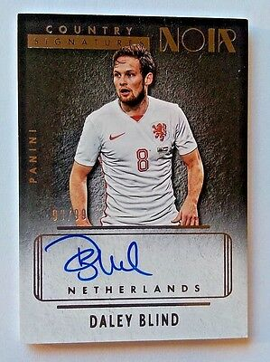 2016 Panini Noir Soccer Country Signatures Daley Blind #99/99