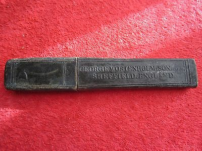 George Wostenholm & Son Sheffield England Axe Straight Razor Empty Box Only