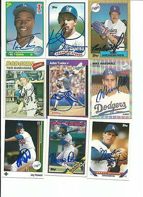 Los   Angeles   Dodgers    9    Card   Autographed   Lot