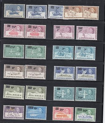 British Antarctic Territory # 25-38 Vf-Mnh Surcharges + Extras Over Cv $200+